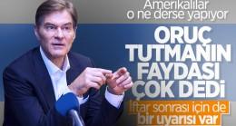 Mehmet Öz oruç tutmanın sağlıklı olduğunu belirtti