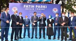 """Bilinen Adı """"aşıklar parkı"""" Olan Fatih Parkının Açılışını Bakan Kurum Gerçekleştirdi"""