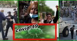 Göstericiler de Covid-19