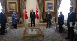 Cumhurbaşkanı Erdoğan, Aile, Çalışma ve Sosyal Hizmetler Bakanı Selçuk ve Sendika Konfederasyon Başkanlarını Kabul Etti