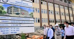 Vali Ustaoğlu Trabzonda Yapımı Devam Eden ve Biten  Çalışmaları Yerinde İnceledi