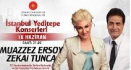 İstanbul Yeditepe Konserlerinde Sahne Muazzez Ersoy ve Zekai Tunca da