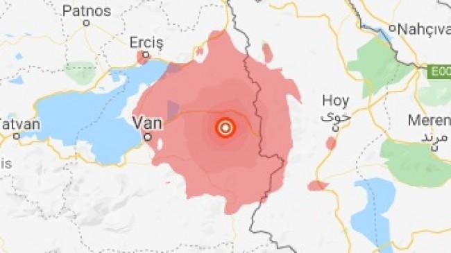 Van 5,4 Büyüklüğünde Depremle Sallandı