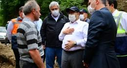 Vali Ustaoğlu, Taşkın Gerçekleşen Bölgeleri Ziyaret Etti