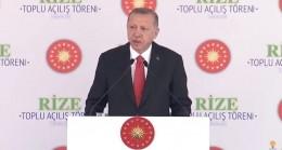 Cumhurbaşkanı Erdoğan, Rizeye Evime Eli Boş Gelmedim