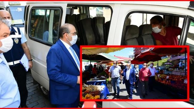 Vali Ustaoğlu, Koronavirüs Tedbirlerine Yönelik Denetimlere Katıldı