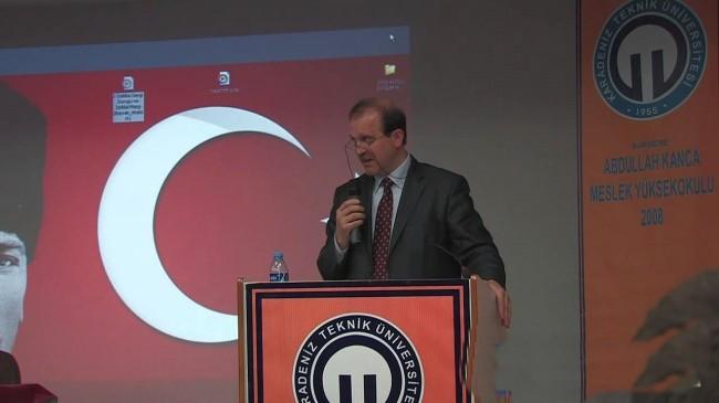 KTÜ'ye Yeni Rektörü Prof. Dr. Hamdullah Çuvalcı,