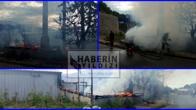 SON DAKİKA ..Arsin Organize Sanayi Bölgesinde Yangın Çıktı