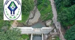 Rize Belediyesi : YAPILAN TERSİP BENDİYLE SU TAŞKINLARI ÖNLENİYOR