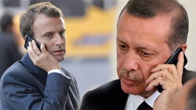 Cumhurbaşkanı Erdoğan, Fransa Cumhurbaşkanı Macron ile telefonda görüştü