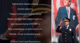 Emniyet Müdürü Metin Alperin  29 Ekim Cumhuriyet Bayramı Mesajı