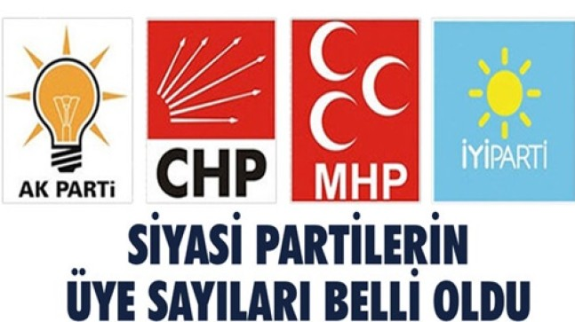 AKP ÜYE SAYISINDA DA LİDER