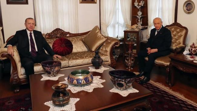 Cumhurbaşkanı Erdoğan Devlet Bahçeliyi Evinde Ziyaret Etti