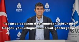 DEVA PARTİSİ'NDEN : 'Bir Tarım Bakanımız Olmalı'