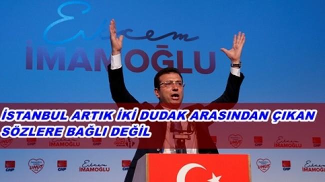 """İmamoğlu: """"Tek Bir Kişinin Sözlerine Bağlı Bir İstanbul Yok Artık"""""""