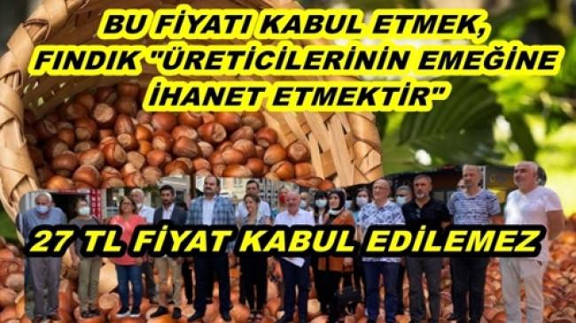 """BAŞKAN ŞAHİN: """"BU FİYATI KABUL ETMİYORUZ"""