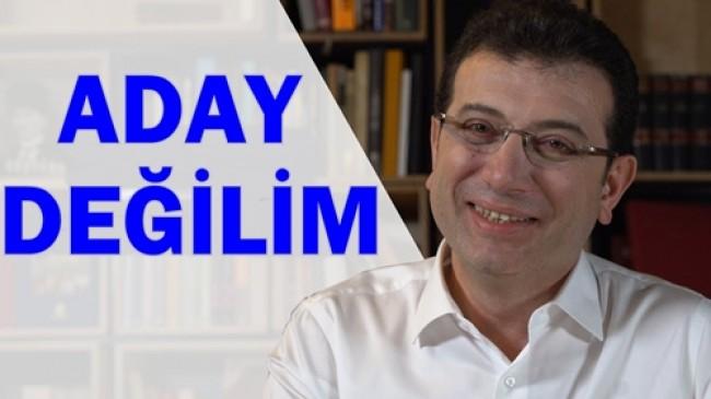 """""""ŞU AN"""" ADAY DEĞİLİM"""