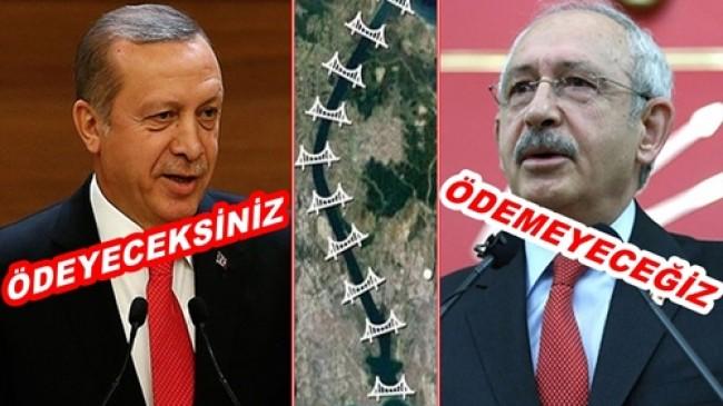 """KANAL İSTANBUL İÇİN """" ÖDEME """" TARTIŞMASI"""