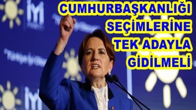 """Akşener ; """"Sayın Erdoğan Seçilmek İstiyor Ama Seçilmesi Mümkün Değil"""