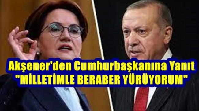 Akşener'den Erdoğan'a Belgrad'tan Yanıt: Milletimle Beraberim